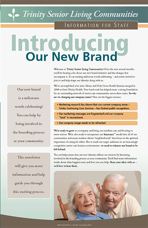 Trinity Senior Living Communities Branding