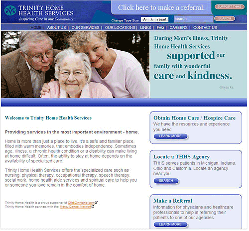 Trinity Home Health Services Website