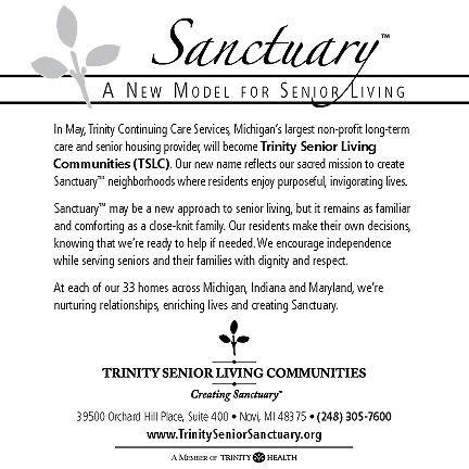 Trinity Senior Living Communities Print Ad