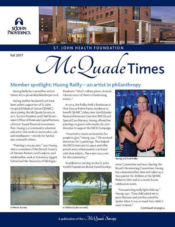 "St. John Providence Foundations ""McQuade Times"" Charitable Giving Newsletter, Fall 2017"